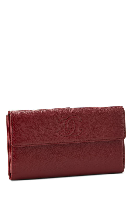 Red Caviar 'CC' Organizer Wallet, , large image number 1
