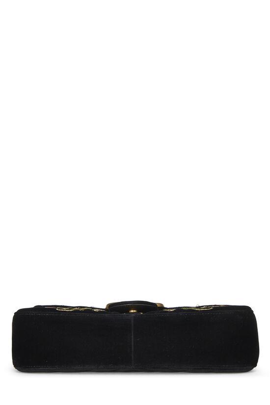 Black Velvet GG Marmont Loved Shoulder Bag, , large image number 4