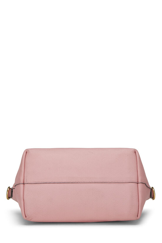 Pink Vitello Daino Handbag Small, , large image number 4