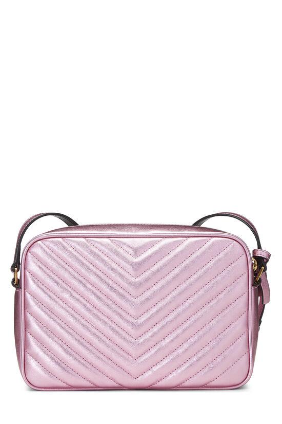 Metallic Pink Quilted Calfskin Lou Camera Bag, , large image number 4