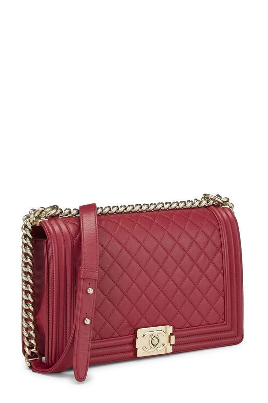 Pink Quilted Lambskin Boy Bag Medium, , large image number 2
