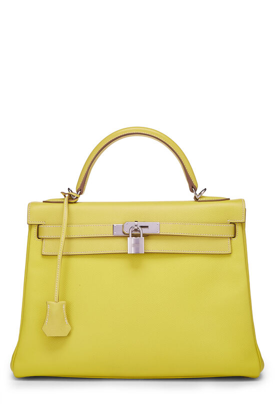 Limited Edition Lime & Gris Perle Epsom Candy Kelly Retourne 32, , large image number 0