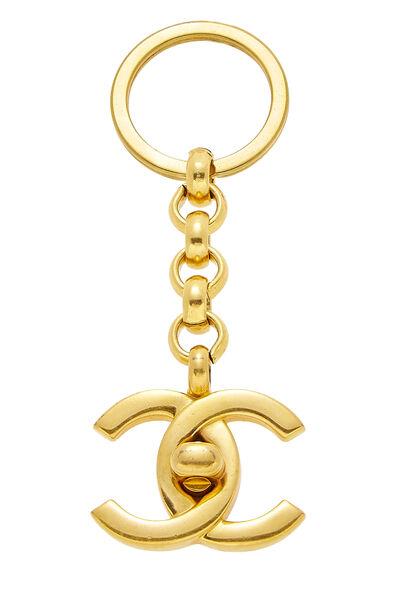 Gold 'CC' Turnlock Keychain