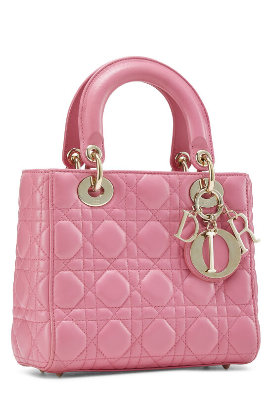 Pink Cannage Quilted Lambskin Lady Dior Small, , large image number 1