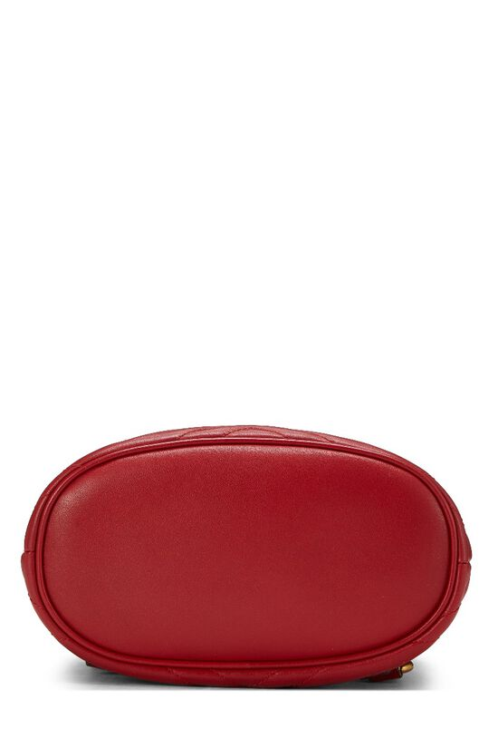 Red Leather 'GG' Marmont Backpack Small, , large image number 4
