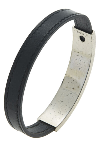 Black Leather Puspus Bracelet, , large