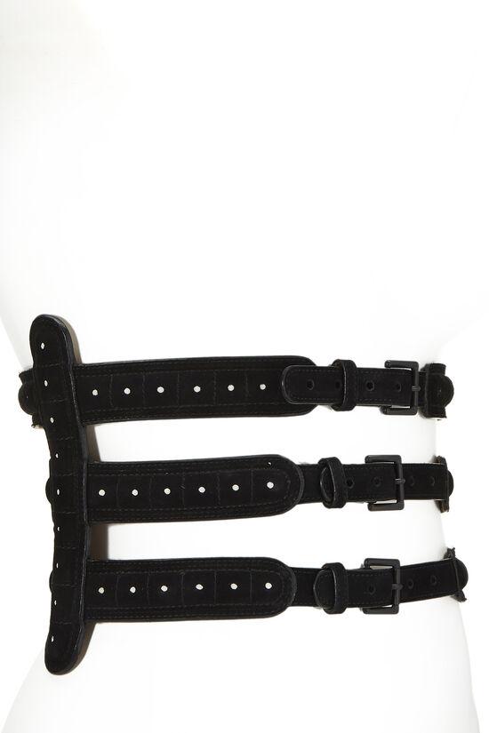 Black Suede Corset Belt 75, , large image number 1