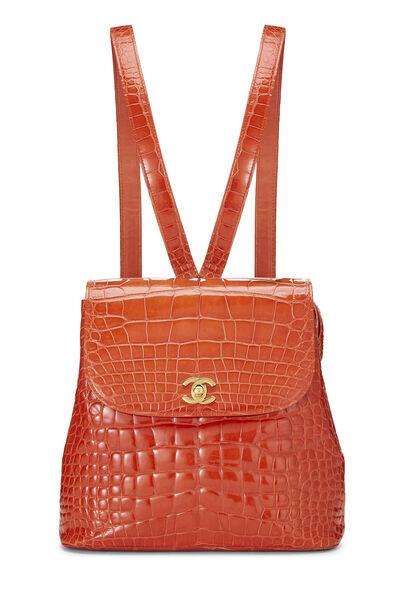Orange Alligator Backpack