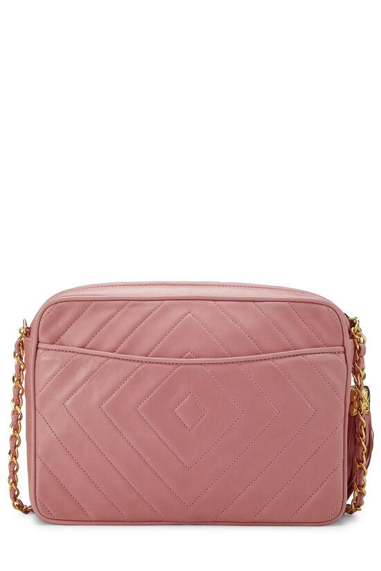 Pink Lambskin Diamond CC Camera Bag Medium, , large image number 4