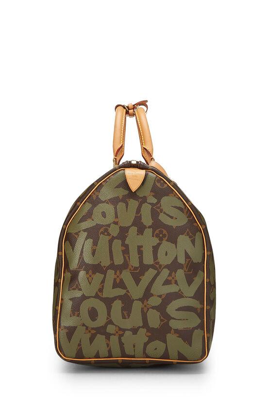 Stephen Sprouse x Louis Vuitton Green Monogram Graffiti Keepall 50, , large image number 2