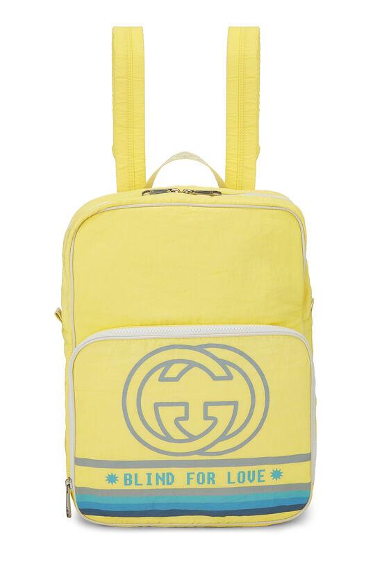Yellow Nylon GG Backpack, , large image number 0