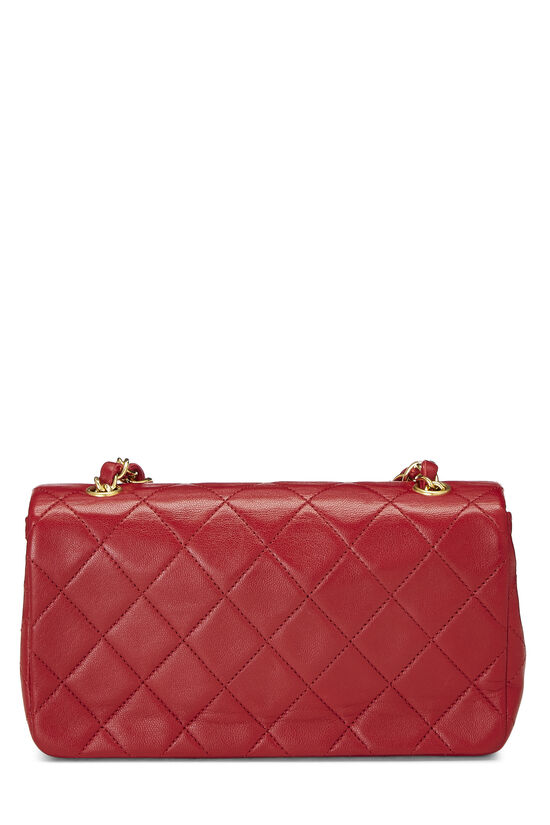 Red Quilted Lambskin Full Flap Mini, , large image number 3