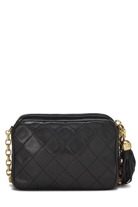 Black Quilted Lambskin Pocket Camera Bag Mini, , large image number 3
