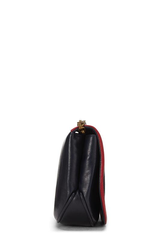 Navy & Red Lambskin 'CC' Shoulder Bag, , large image number 2
