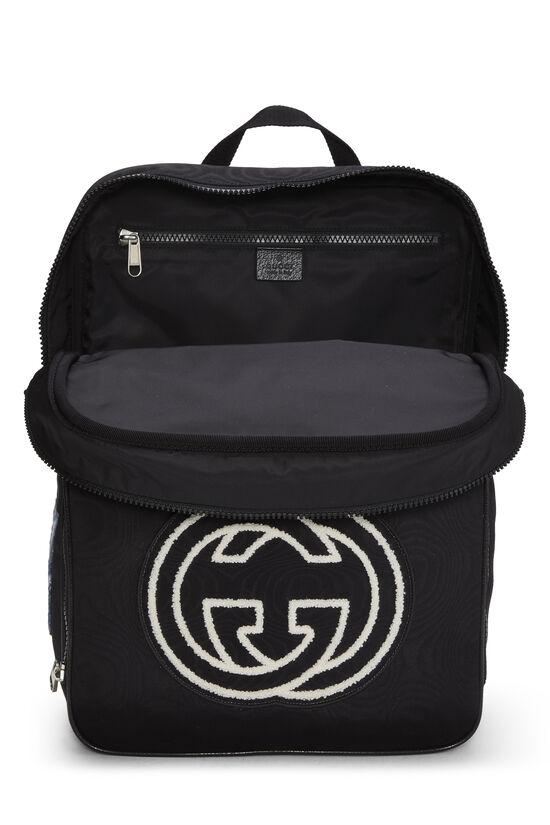 Black Nylon Tenebre Backpack, , large image number 5
