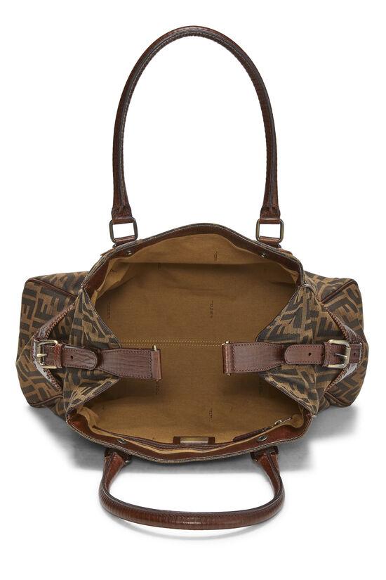 Brown Zucca Canvas Bag Du Jour Medium, , large image number 5