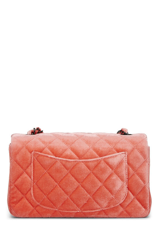 Coral Quilted Velvet Half Flap Small, , large image number 3