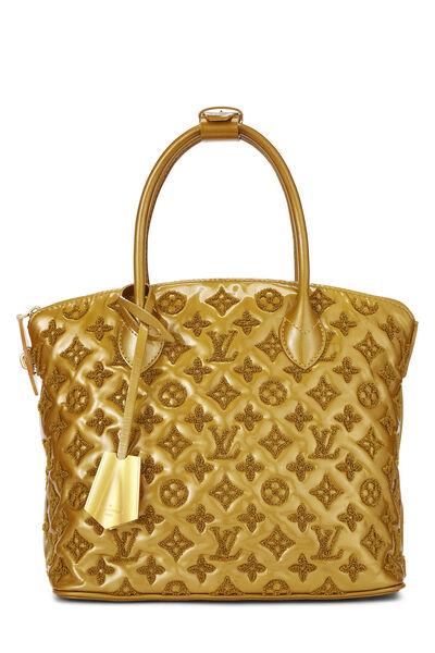 Gold Monogram Patent Leather Fascination Lockit