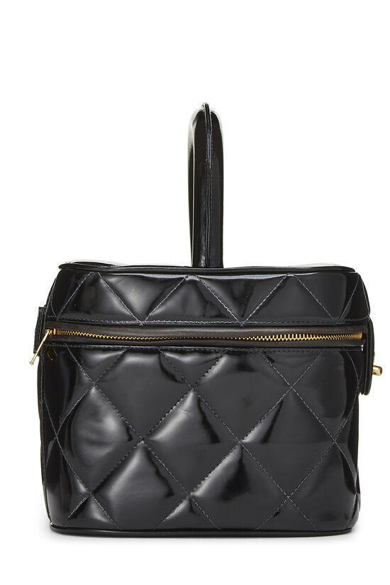 Black Quilted Patent Leather Vanity, , large image number 2