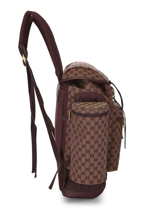 Burgundy GG Canvas Backpack Large, , large image number 2
