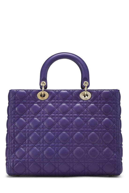 Purple Cannage Quilted Lambskin Lady Dior Large, , large image number 4