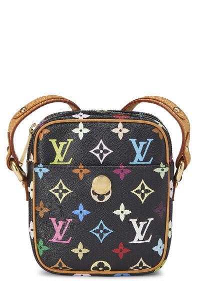 Takashi Murakami x Louis Vuitton Black Monogram Multicolore Rift