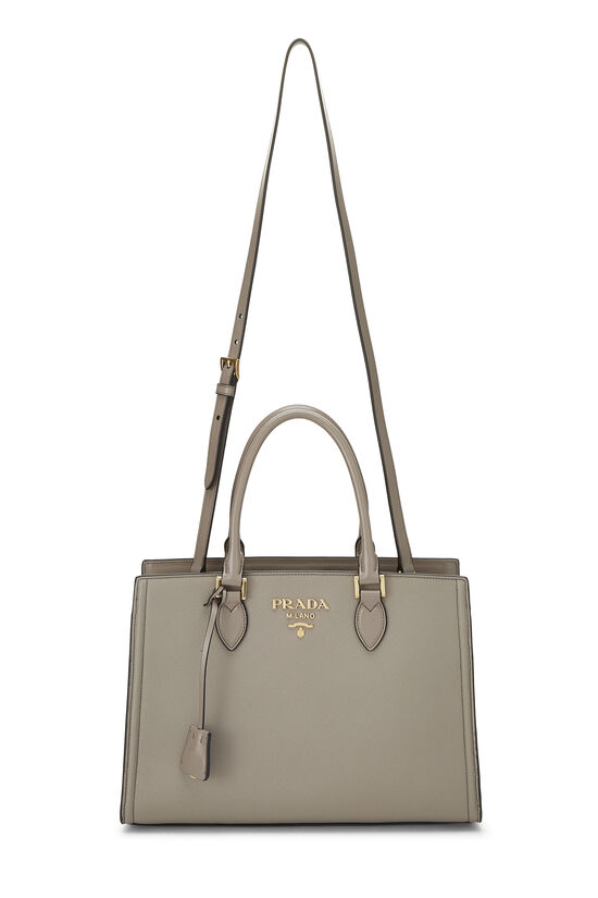 Grey Saffiano Leather Tote, , large image number 6