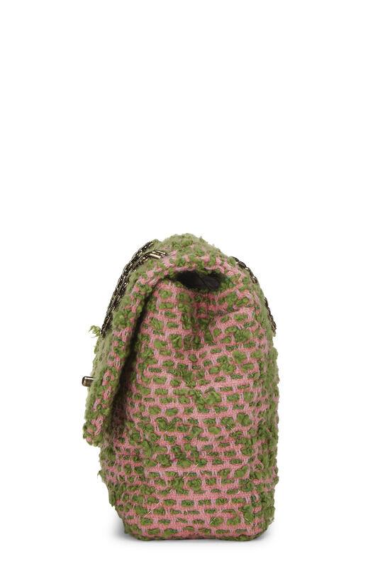 Pink & Green Tweed Classic Flap Medium, , large image number 2