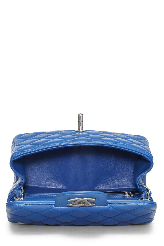 Blue Quilted Lambskin Classic Square Flap Mini, , large image number 5