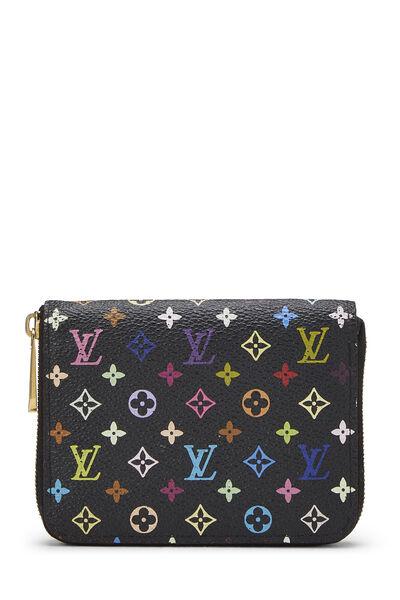 Takashi Murakami x Louis Vuitton Black Monogram Multicolore Zippy Coin Purse
