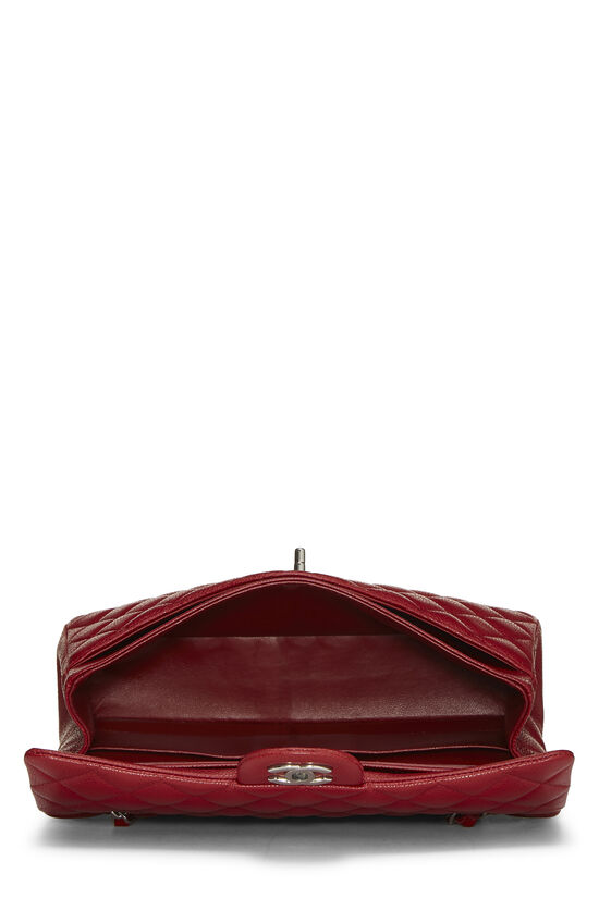 Red Quilted Caviar Classic Double Flap Medium, , large image number 5