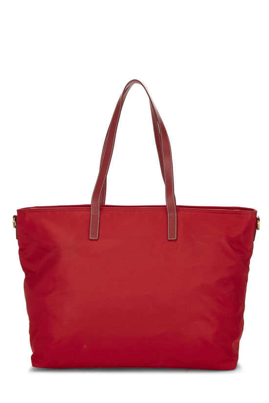 Red Tessuto Nylon Tote XL, , large image number 3