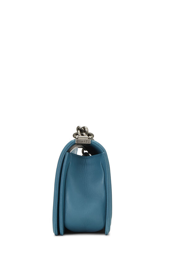 Teal Quilted Lambskin Boy Bag Medium, , large image number 3