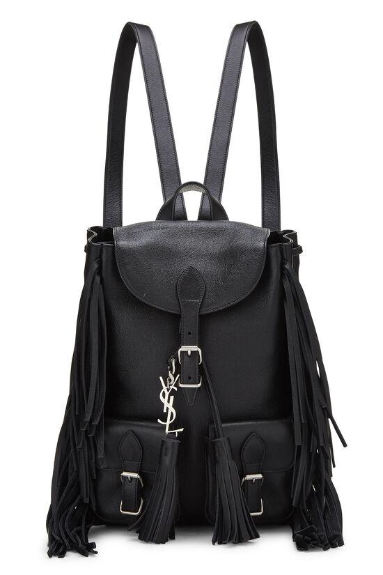 Black Calfskin Fringe Festival Backpack Small, , large image number 0