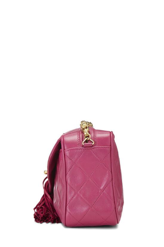 Pink Quilted Lambskin Pocket Camera Bag Mini, , large image number 3