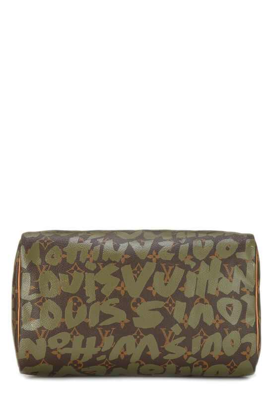Stephen Sprouse x Louis Vuitton Monogram Green Graffiti Speedy 30, , large image number 4