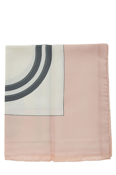 Pink & Multicolor 'Brides de Gala' Silk Scarf 90, , large
