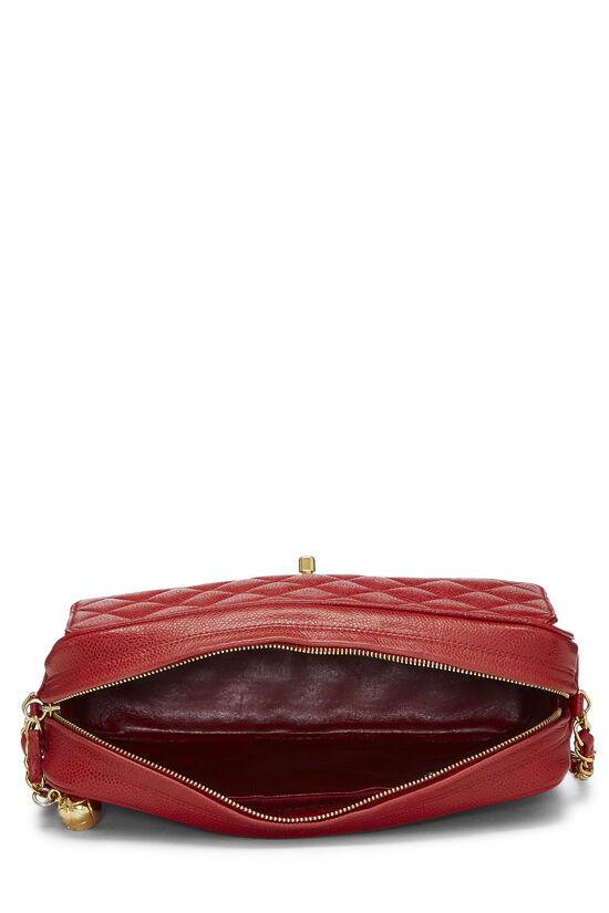 Red Quilted Caviar Pocket Camera Bag Large, , large image number 6