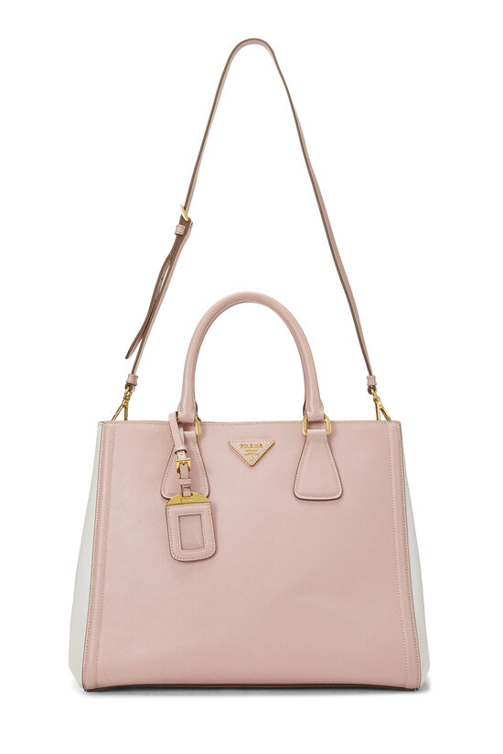 Pink & Ivory Saffiano Bicolor East West Tote, , large image number 6