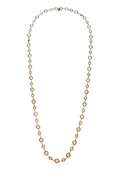 Gold & Brown Crystal Necklace