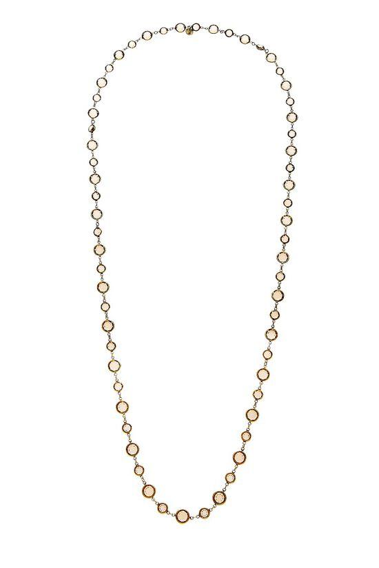 Gold & Brown Crystal Necklace, , large image number 0