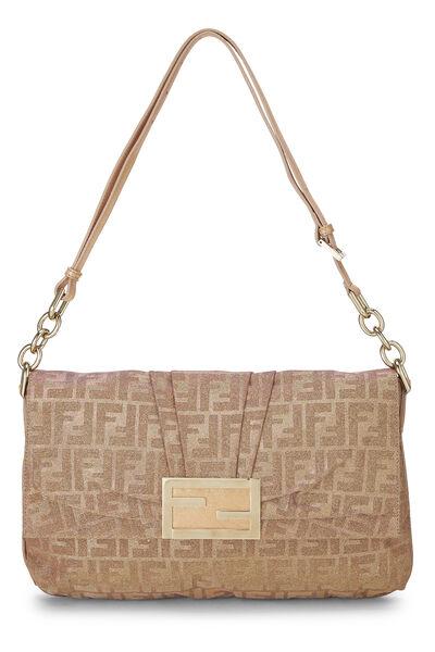 Pink Glitter Zucca Lurex Mia Flap Bag Large