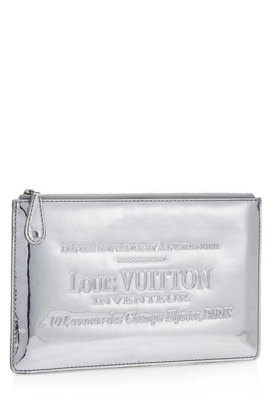 Silver Miroir Pochette Pratt, , large image number 1