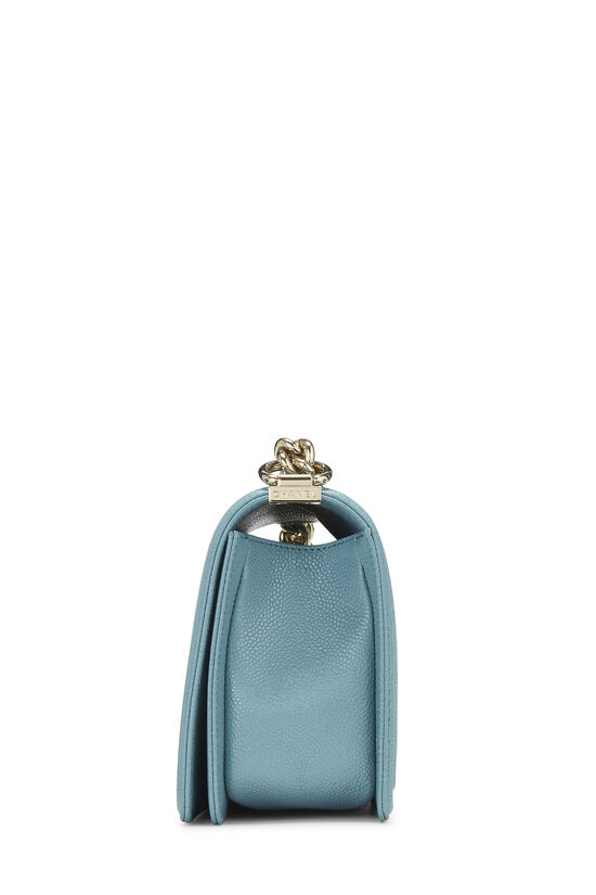 Blue Quilted Caviar Boy Bag Medium, , large image number 3