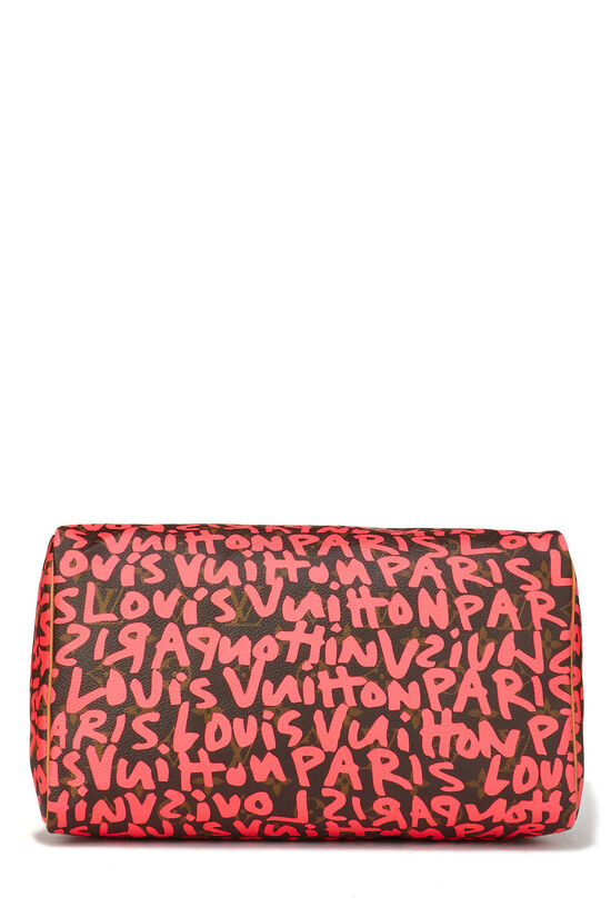 Stephen Sprouse x Louis Vuitton Monogram Pink Graffiti Speedy 30, , large image number 4