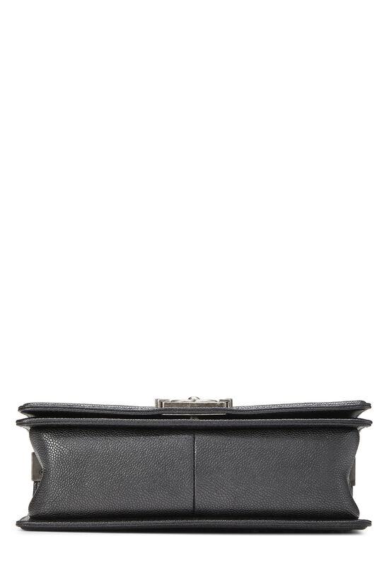 Black Leather & Tweed Boy Bag Medium, , large image number 5