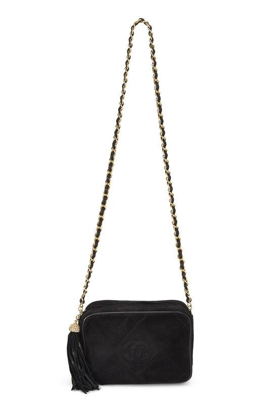 Black Suede Diamond 'CC' Camera Bag Mini, , large image number 6