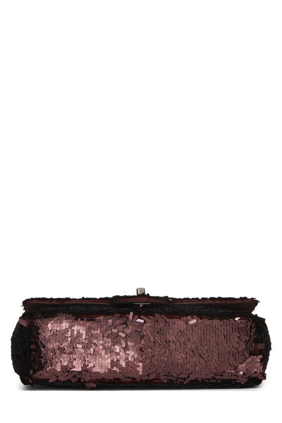 Burgundy Sequin Half Flap Small, , large image number 4