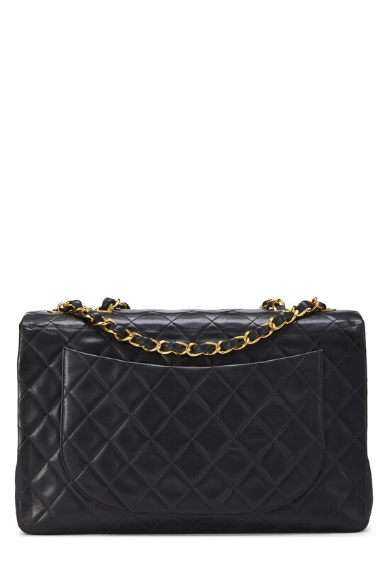 Black Quilted Lambskin Half Flap Maxi, , large image number 3