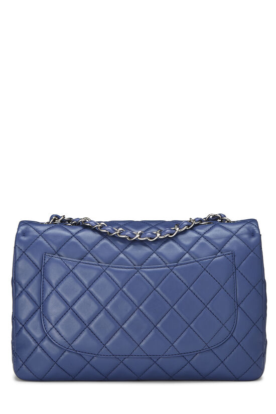Blue Quilted Lambskin Classic Flap Jumbo, , large image number 3